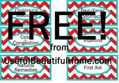 Free Printable Medicine Labels from UBH