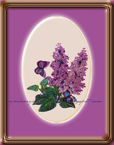 A Journey into Quilling & Paper Crafting: Quilled Flowers Nature Picture Art - Lilac & Butterflies
