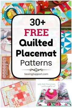 Placemat Diy, Quilted Placemat Patterns, Quilt Patterns Free, Diy Sewing Projects, Sewing Projects For Beginners, Sewing Hacks, Easy Quilts, Mini Quilts, Charm Pack Quilts