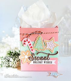 Sweet Holiday Wishes Gift Bag by Kay Miller for Papertrey Ink (November 2016)