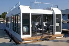 Image result for white Houseboat modern