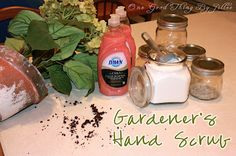 Homemade hand scrub