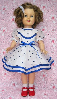 "Ideal 1957 19"" Shirley Temple Doll Dress - mine came in the 70's, so it was a little different"