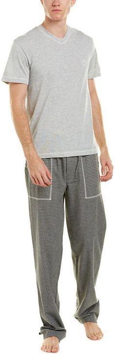 Robert Graham V-Neck & Flannel Pant Set