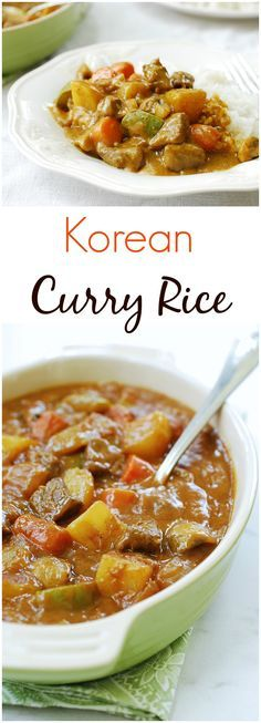 Korean curry rice (ka-re-raice, 카레라이스) is a stew-like curry sauce served over rice! It's a hearty, comfort food we all grew up eating!