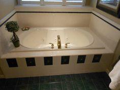 Bathroom Remodel 1 - Bath tub before remodel Mobile Home Living, Home And Living, Garden Tub, Home And Garden, Rv Bathroom, Bath Tub, Corner Bathtub, Remodels, Inspiration