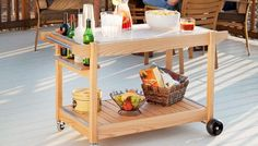 Entertaining friends is easy with this versatile server that's great for the deck, a patio or a sunroom.