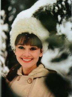 Audrey in the snow