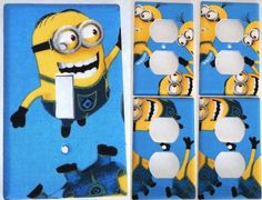 Blue Minion Despicable Me Light Switch Cover Bedroom Bathroom Decor Set 1&4 in Home & Garden, Home Improvement, Electrical & Solar | eBay