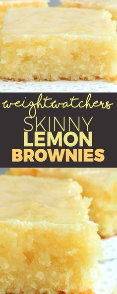 Weight Watcher's Skinny Lemon Brownies!!! - 22 Recipe