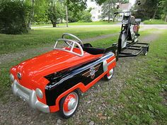Image detail for -50's Retro Mod BMC Pedal Car and Mobo Pedal Cycle Harley Theme Custom ...