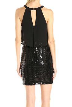 T4 http://www.ebay.com/itm/Guess-NEW-Black-Women-039-s-Size-4-Sequin-Chiffon-Popover-Sheath-Dress-158-116-/352110913742?_trksid=p2047675.l2557