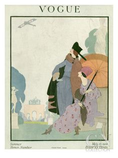 Vogue Cover - May 1918 Premium Giclee Print - Illustration by Helen Dryden