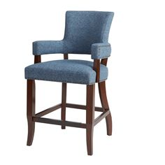 Nail head-outlined Bracken 26 Counter Stool has a smart sleek presence in perfectly-matched crisply-outfitted uptown spaces. Counter And Bar Stools Blue