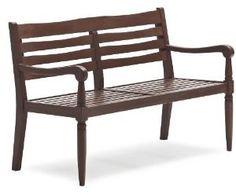 Strathwood Redonda Hardwood 2-Seater Bench, Dark Brown