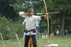(Research! www.EKaiserWrites.webs.com ) ~ Medieval English war bow re-enactors by Kevglobal, via Flickr