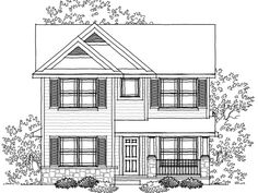 32x32 First Floor Plan of European Narrow Lot House Plan