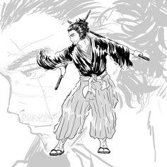 @gnayprojectのInstagramアカウント: 「#samurai #kimono #bushido #katana #originalart #illustrator #illustration #illust #侍 #サムライ #着物 #刀