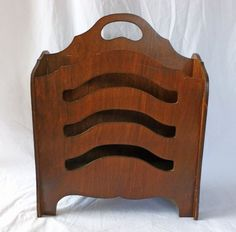 Vintage Antique Wooden 1940's Magazine Rack