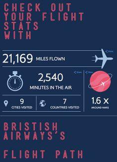 Fun @British Airways fight path infographic generator!