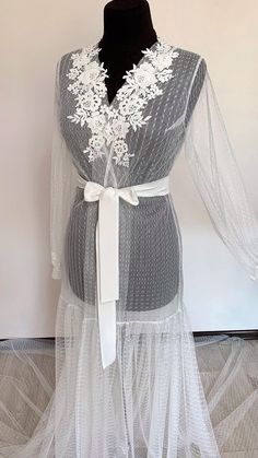 Wedding Day Robes, Bridal Robes, Bridal Lingerie, New Wedding Dresses, Designer Wedding Dresses, Bridal Dresses, Gown Skirt, Chiffon Dress, Bride Gowns