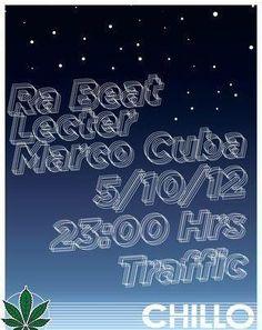 Hoy imperdible Chillo Party con Ra Beat + LECTER + Marco Cuba solo en TRAFFIC SJ