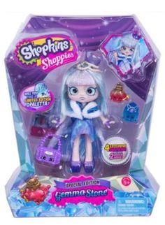 3071d8e2af64 Shopkins Shoppies Exclusive Gemma Stone doll and 4 shopkin figures