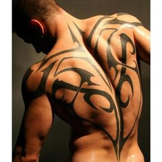 50 Back Tattoos Ideas For Men and Women ❤ liked on Polyvore featuring men's fashion                                                                                                                                                     More