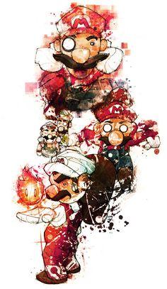 Mario, Super Mario Bros by Anemic Angel