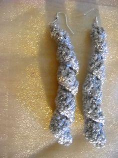 orecchini a spirale in lamè argentato