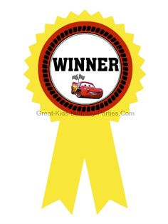 Disney Cars Games - Free Printable Cars Gold Medal Ribbons