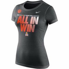 Nike Clemson Tigers Ladies 2014 Orange Bowl Champs Locker Room T-Shirt