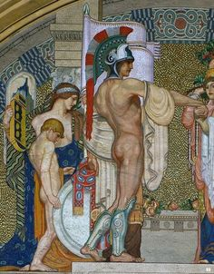Antonio Rizzi (1869-1940) Mosaic, detail - The Union