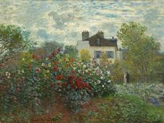 The Artist's Garden in Argenteuil. By Claude Monet, Oil on canvas. Monet was a founder of the impressionist art movement. Monet's landscape paintings, including The Artist's Garden in Argenteuil, are well known for showing the effect of light on the Monet Paintings, Impressionist Paintings, Landscape Paintings, Landscapes, Canvas Paintings, Landscape Art, Claude Monet, National Gallery Of Art, Art Gallery