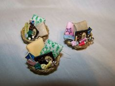 DOLLS HOUSE MINIATURES  - SEWING BASKET