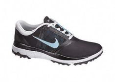 sports shoes 5181e 548f4 Nike Women s FI Impact Spikeless Golf Shoe - Black Polarized Blue at Golf  Galaxy