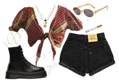 """Untitled #490"" by jenxorose ❤ liked on Polyvore featuring Dr. Martens, Jean-Paul Gaultier, LowLuv and Jennifer Fisher"