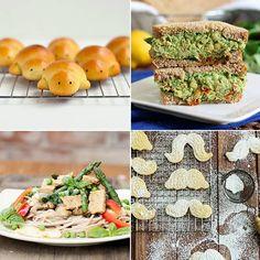Lemon Cornmeal Sugar Cookies & Chickpea Pesto Sandwich