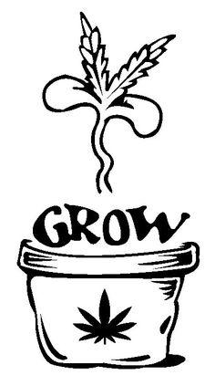 Grow Weed Sticker,marijuana Decals, Pot Stickers, Weed Decals ...