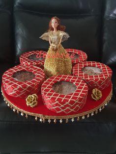 Craft😍 Indian Wedding Gifts, Desi Wedding Decor, Diy Wedding Gifts, Wedding Crafts, Diy Wedding Decorations, Ramadan Decorations, Wedding Gift Baskets, Wedding Gift Wrapping, Diy Food Gifts