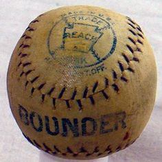 1914 Vintage Bounder Baseball by Reach. Great piece.