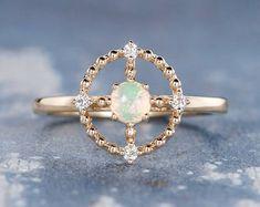 HANDMADE RINGS & BRIDAL SETS by MoissaniteRings on Etsy Bridal Ring Sets, Handmade Rings, Opal, Gold Rings, Etsy Seller, Rose Gold, Engagement Rings, Jewelry, Enagement Rings