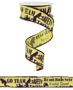 "1.5"" X 10YD FOOTBALL RIBBON #football #ribbon #LSU #craigbachman"
