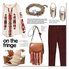"""Festival Trend: Fringe"" by anyasdesigns ❤ liked on Polyvore featuring Calypso St. Barth, GANT, Chloé, Volatile, Kenneth Cole, fringe, casualoutfit, fashionset and springdate"
