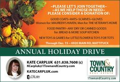 Annual Holiday Drive