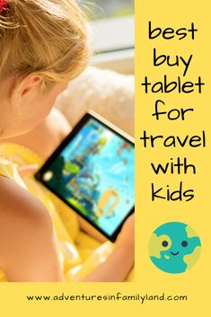 Find out which tablet works best for traveling with kids. Toddler Beach, Toddler Travel, Travel With Kids, Family Travel, Airplane Kids, Airplane Travel, Fire Kids, Travel Accessories For Men, Kids Tablet