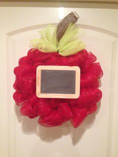 Back-to-School Apple Wreath