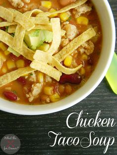 Chicken Taco Soup | MomsTestKitchen.com