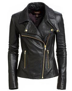DANIER LEATHER - 299.00 Womens Black Leather Jacket 1a91b11529