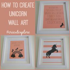 How to Create Unicorn Wall Art for your Child's Bedroom from Love Chic Living